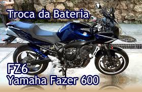 yamaha fazer 600 fz6 retirando a bateria removing the