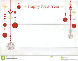 Happy New Year Decorations New Year Decorations On A Card Design Stock Vector Image 32636767