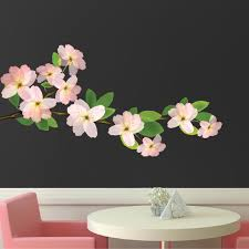 yellow tulip mural decal flower wall decal murals primedecals beautiful flower branch wall decal