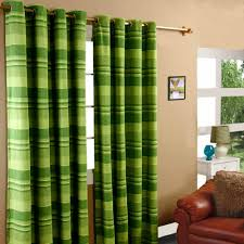 Green Striped Curtains Morocco Cotton Ribbed Striped Curtains Ready Made 9 Colours