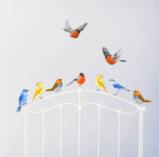 Nursery Stickers Birds Wall Stickers Birds Nursery Pvc Free Stickers By