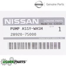nissan genuine accessories malaysia 2004 2015 nissan armada windshield washer fluid pump oem new