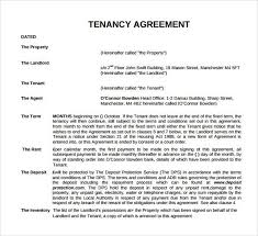 tenancy agreement templates tenancy contract template microsoft