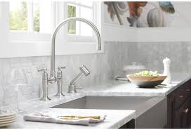 Bridge Kitchen Faucets Faucet Com K 7337 4 Bs In Brushed Stainless By Kohler