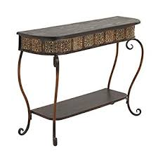 Wood Console Table Amazon Com Deco 79 74362 Metal Wood Console Table 32