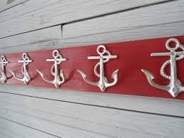 anchor hooks nautical beach decor beach house dreams towel rack