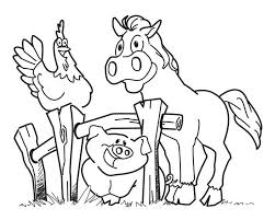 clever design ideas printable coloring pages animals preschool