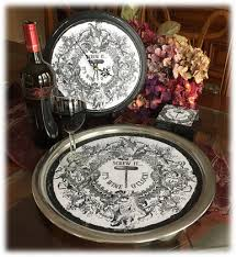 themed serving tray wine themed serving tray coasters clock it wine o clock