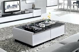 Black Gloss Glass Coffee Table Black Gloss Coffee Table With Drawers For Interior White Coffee