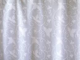 Cottage Shower Curtains Ivy Lace White On White Vintage Country Cottage Shower Curtain