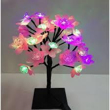 superdeals 24 led multi colour flower mini tree light l