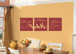 unique design faith wall decor bright faith hope love home decor