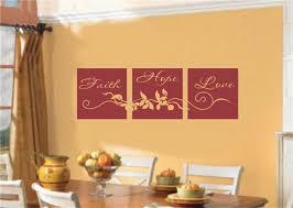 unique design faith wall decor bright faith hope love home decor
