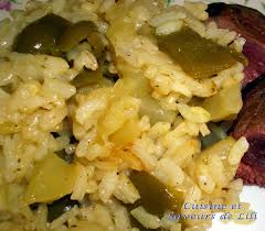 cuisiner poivrons verts risotto à la courgette et au poivron vert cuisine et saveurs de lili