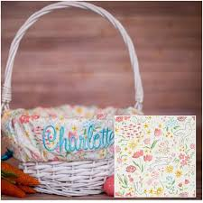easter basket liners personalized personalized easter basket liner easter basket liner bunny