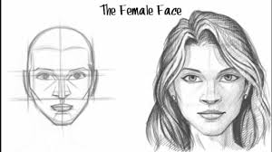 drawing of the face side view face drawing woman face side view