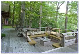 Decks With Benches Built In Built In Deck Bench Seating Decks Home Decorating Ideas