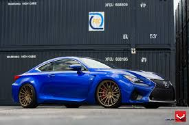 lexus rcf blue 2015 lexus rc f on vossen vfs2 satin bronze alloys cars