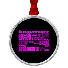worlds greatest goddaughter ornaments keepsake ornaments zazzle