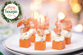 canapes with prawns marinated spicy prawns with boursin cheese garlic herbs tesco