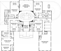 10 Bedroom Floor Plans by Fountainbleau Open Floor Plan Mansion House Plan