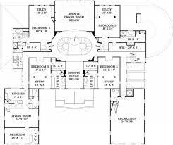 fountainbleau open floor plan mansion house plan