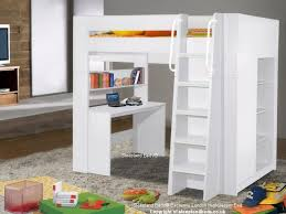 London White High Sleeper Bunk Bed With Desk Shelves And Wardrobe - High bunk beds