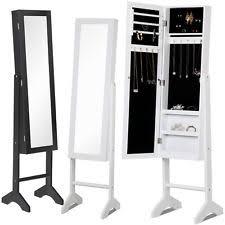 mirror and jewelry cabinet mirrored jewelry box ebay