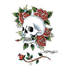 ed hardy skull and roses temporary goimprints