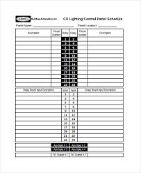 Siemens Panel Schedule Template panel schedules template pertamini co