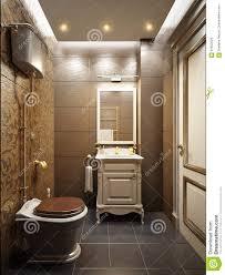 classic modern water closet interior design stock illustration