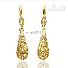18k gold earrings plated 18k gold drop earrings fashion top woman jewelry diamond