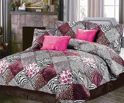 bedding personable kruger zebra leopard black white animal print