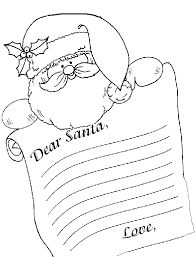 letter to santa template printable black and white letter to santa the crayon house