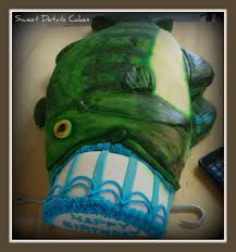bass fish cake the bass fish swallowed my birthday cake cakecentral