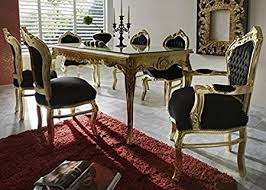 gold dining table set casa padrino baroque dining room set black gold dining table 6