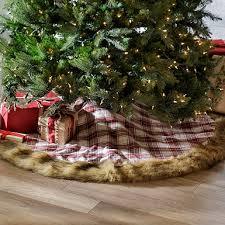 faux fur tree skirt white and gold faux fur tree skirt kirklands