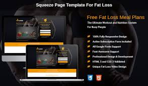 html5 responsive fat loss video lead capture squeeze page design