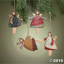 amazon com lot of 12 dancing tin angels christmas tree ornaments