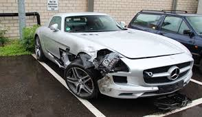 mercedes of germany car crash mercedes sls amg wrecked in germany gtspirit