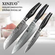 couteaux cuisine xinzuo 3 pcs couteaux de cuisine set 73 couches damas couteau de