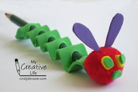 very hungry caterpillar pencil fun family crafts