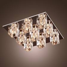 light for living room ceiling lightinthebox k9 crystal flush mount with 9 lights in square