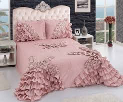 home accessory dusty pink ruffle bedding bedroom wheretoget