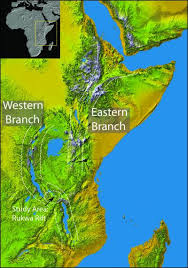 africa map great rift valley geologists correct a rift in africa