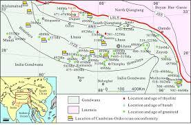 Tibetan Plateau Map Detrital Zircon U U2013pb Ages And Hf Isotopic Composition Of The