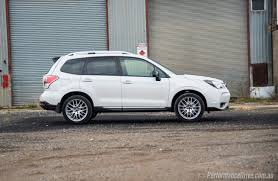 2017 subaru forester premium white 2016 subaru forester ts sti review video performancedrive