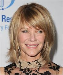 are bangs okay with medium short hair on 50 year old side swept bangs are youthful and natural for older women cute