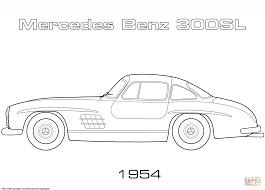 1954 mercedes benz 300sl coloring page free printable coloring pages
