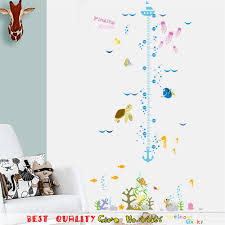 popular wall stickers fish buy cheap wall stickers fish lots from cute nemo cartoon wall sticker fish growth chart height measure for baby child wall decals